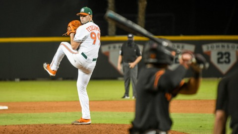 Hurricanes coach Gino DiMare talks about home opening loss to Virginia Tech
