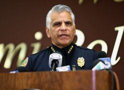 Miami Police announce arrest of two murder suspects, update public on at-large suspect