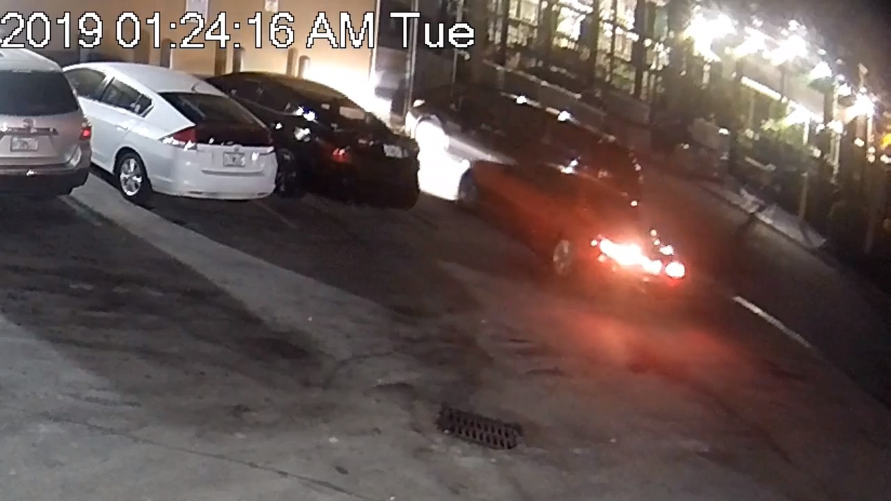 Two wounded in shooting at popular late-night pizzeria. Cameras recorded the getaway BMW