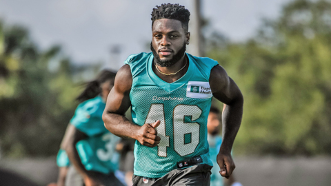 Dolphins Noah Igbinoghene is youngest player in the league
