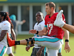Miami Dolphins QB Ryan Tannehill has learned to trust his knee and his offensive line at the end of training camp.