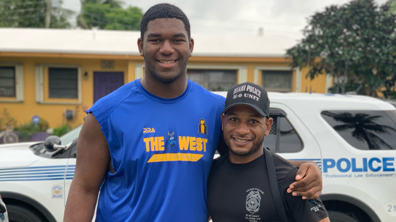 Miami Police Officer Becomes Forms Unlikely Friendship With Young Black Teen Who Attacked Him During Black Lives Matter Protest