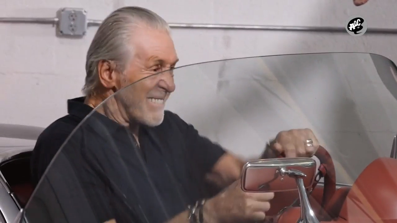 Pat Riley shows off his car collection to Dan Le Batard