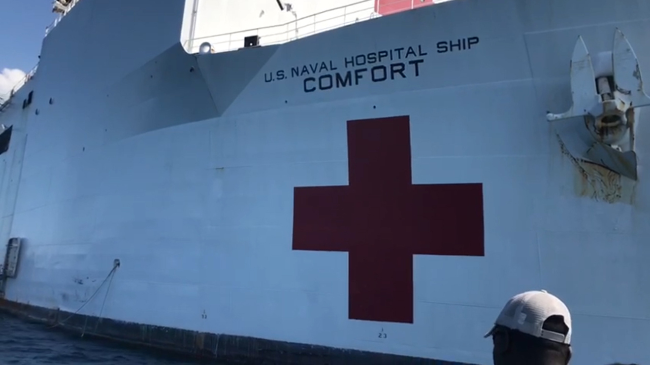 Rare calm in Haiti as thousands seek free medical care from U.S. Navy hospital ship Comfort