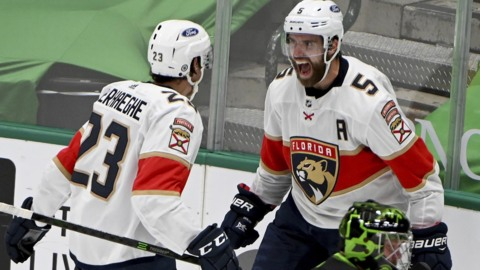 Panthers' postgame comments after the OT win against the Stars