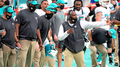 """Dolphins coach Brian Flores says the team needs to """"play better across the board"""", after defeat to Buffalo Bills"""