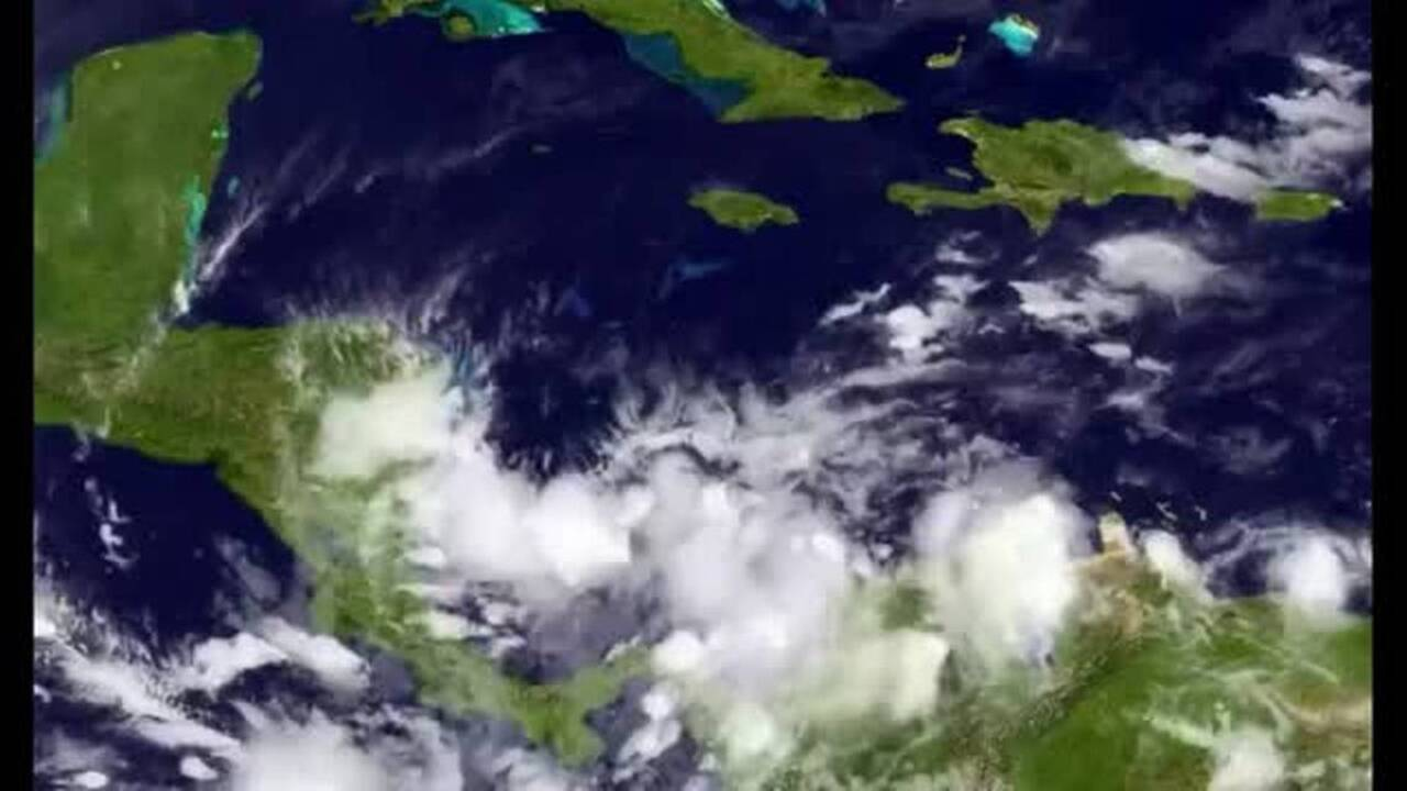 Hurricane season's not over yet: late season system strengthening in the Caribbean