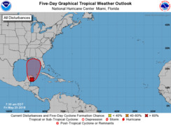 NHC forecasting possible tropical depression in Gulf of Mexico over weekend
