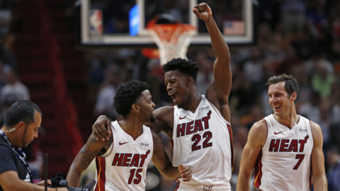 Shorthanded Heat assists on 34 of 41 field goals to hold off Detroit Pistons in Miami