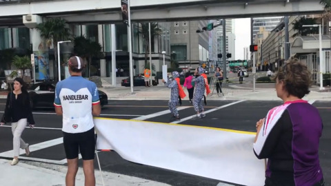 Protesters take to downtown Miami streets, demand that they be made safer