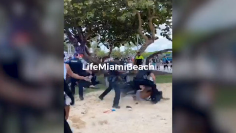 Viral videos of spring break arrests show 'racist' policing in South Beach, NAACP says