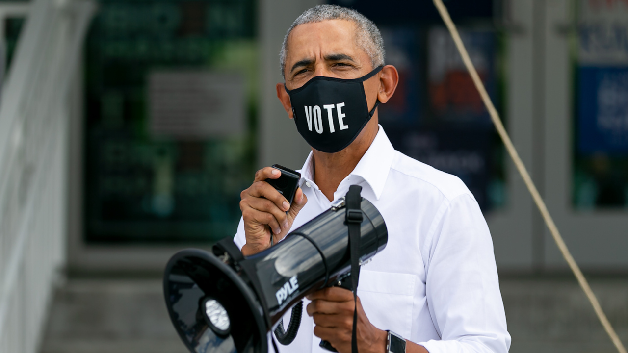 'If you bring Florida home this thing's over.' Obama makes surprise Miami Springs stop