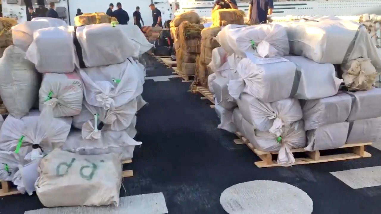 Coast Guard offloads about $700 million worth of cocaine and marijuana