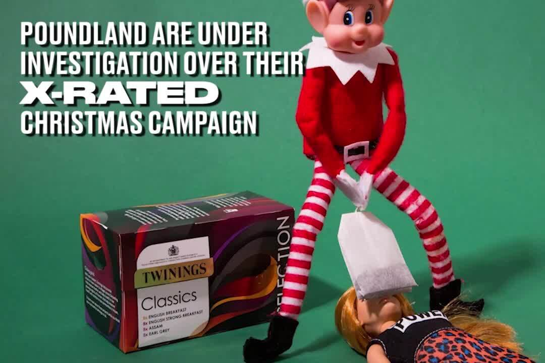 Poundland Raises Eyebrows With Chocolate Finger 'Santa Banter' Advertisement