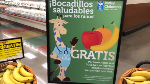 Valley Children's and Vallarta Supermarkets launched free snack program