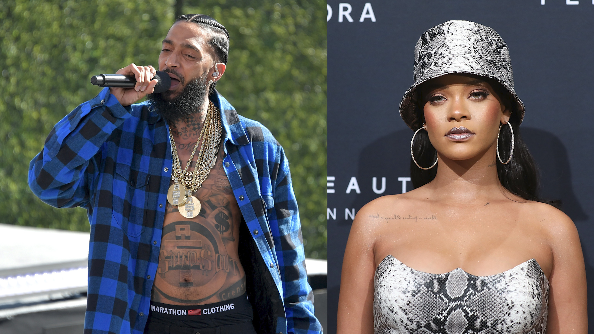 Rihanna, Drake Join Celebrities and Sports Stars Mourning Rapper Nipsey  Hussle