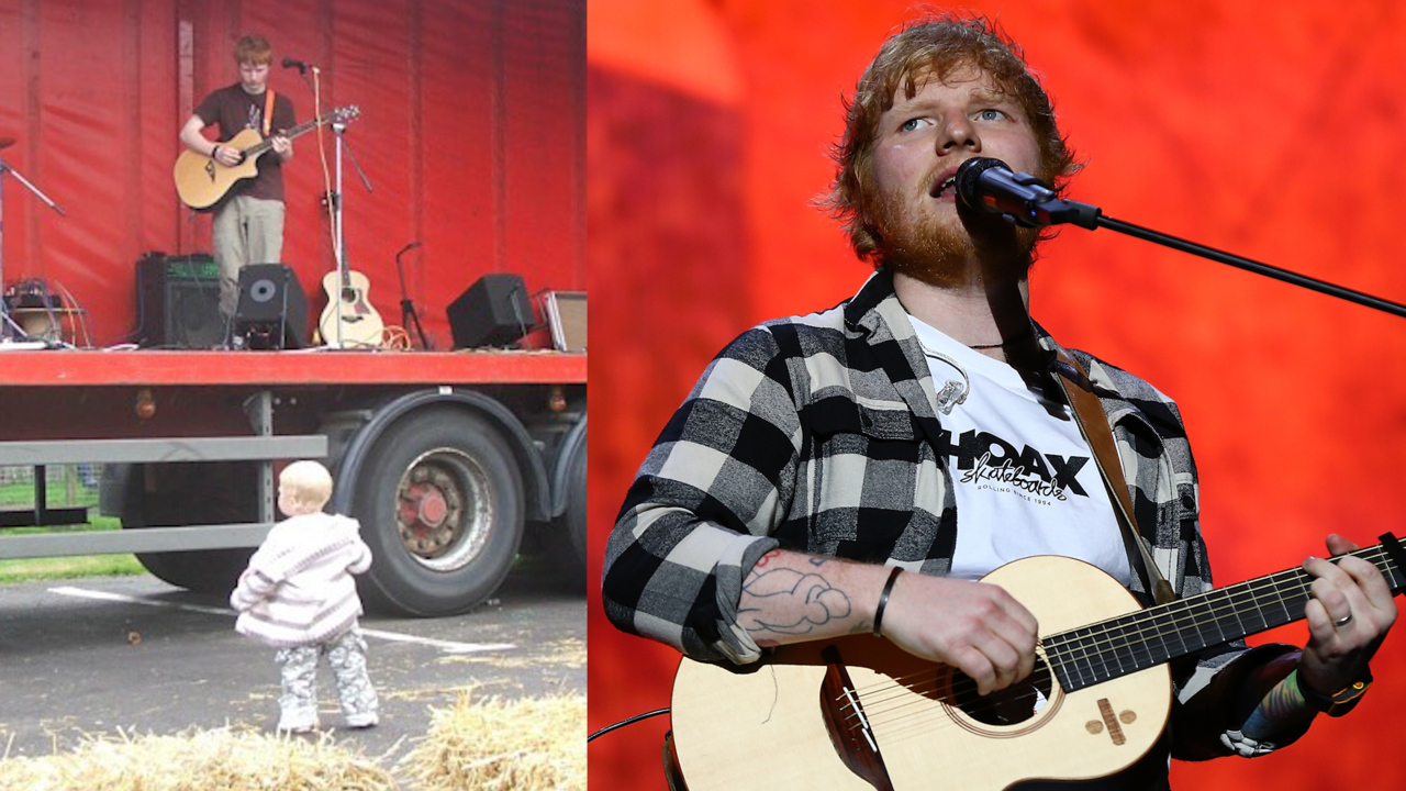Ed Sheeran Shares Cute Throwback Pic of Early Performance to Single Toddler