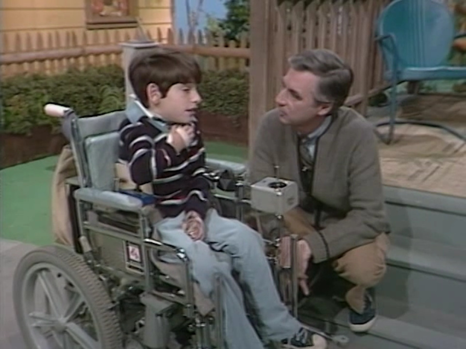 A Visit With A Boy In A Wheelchair Mister Rogers Neighborhood