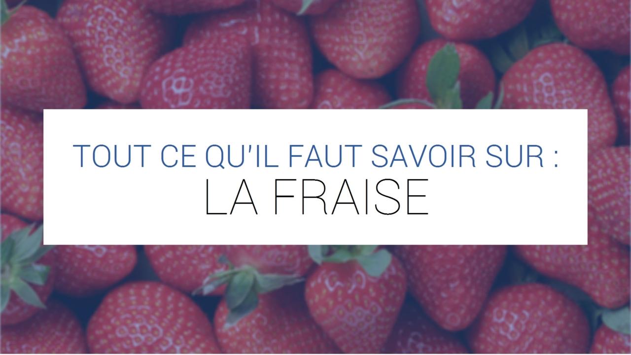 Comment Faire Des Graines De Fraises fraise - bienfaits, valeur nutritionnelle, astuces, recettes