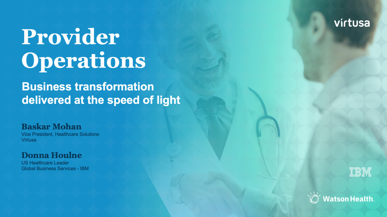 Webinar: Provider operations – Business transformation delivered at the speed of light