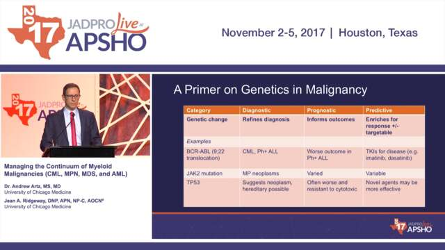Managing the Continuum of Myeloid Malignancies