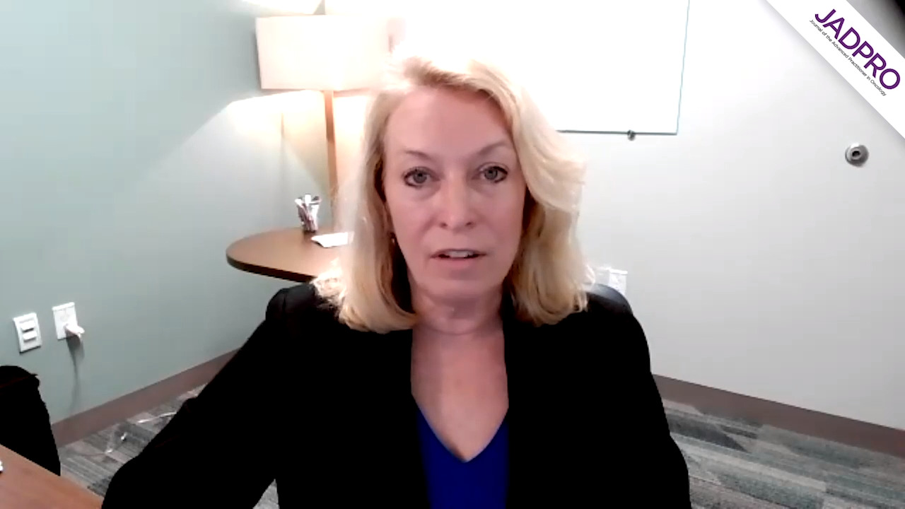 Sara Tinsley, PhD, APRN, AOCN, on CLL: Minimal Residual Disease After Venetoclax and Rituximab Therapy