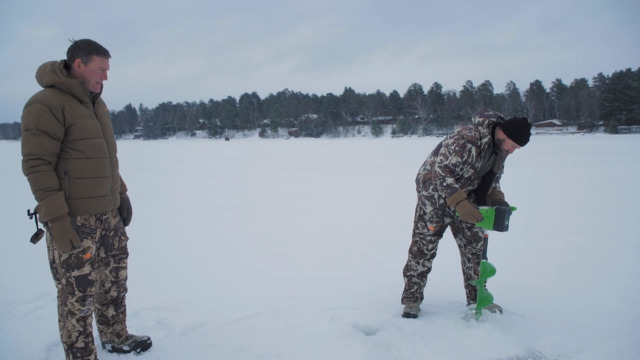 How to Cut a Spearing Hole