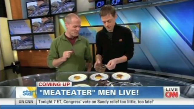 Steven Rinella and Tim Ferriss on CNN's Starting Point, Jan 4, 2013