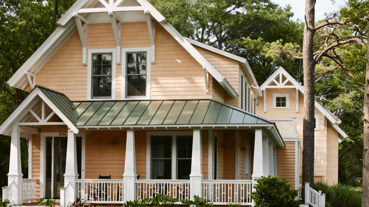 Best exterior house color schemes better homes gardens - Best exterior color for small house ...