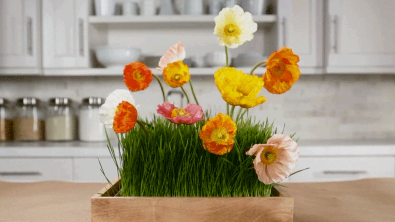 Floral Centerpiece with Grass