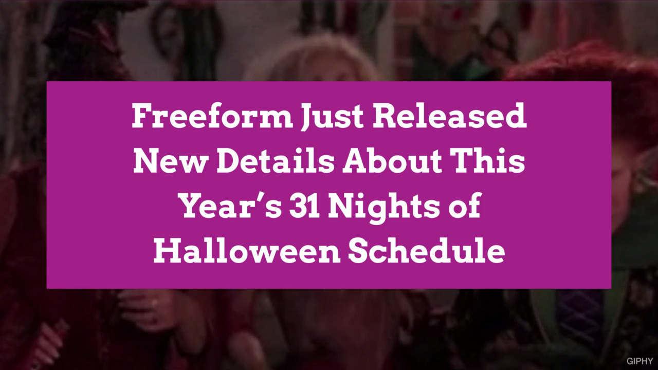 photo regarding Abc Family 25 Days of Christmas Printable Schedule referred to as Freeform Only Introduced Contemporary Facts Concerning This A long time 31 Evenings of Halloween Routine