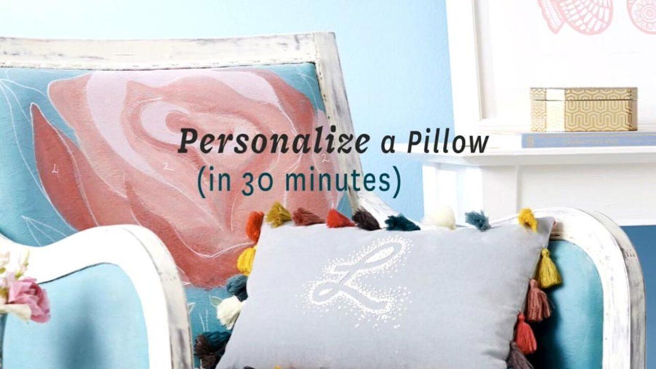Monogram a Pillow