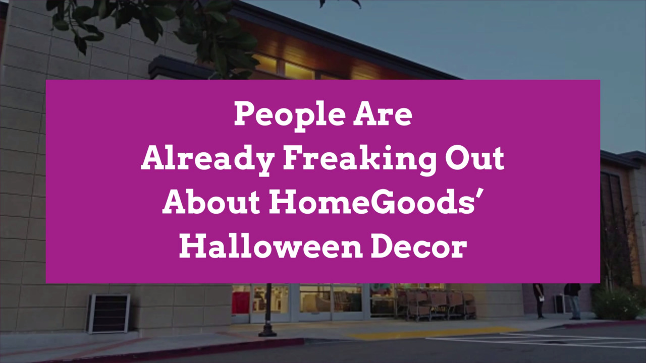 People Are Already Freaking Out About HomeGoods' Halloween Decor