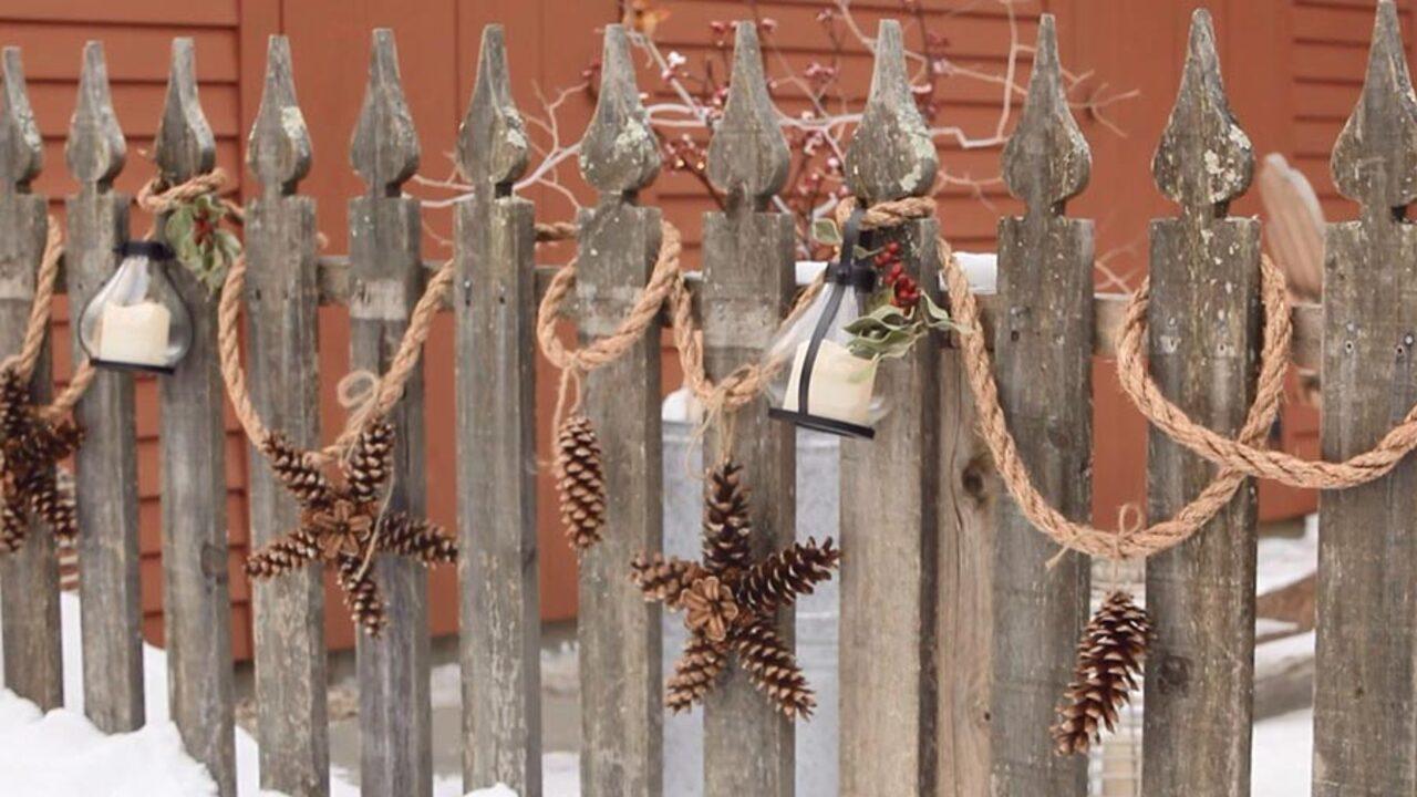 Make a Rustic Porch Garland!