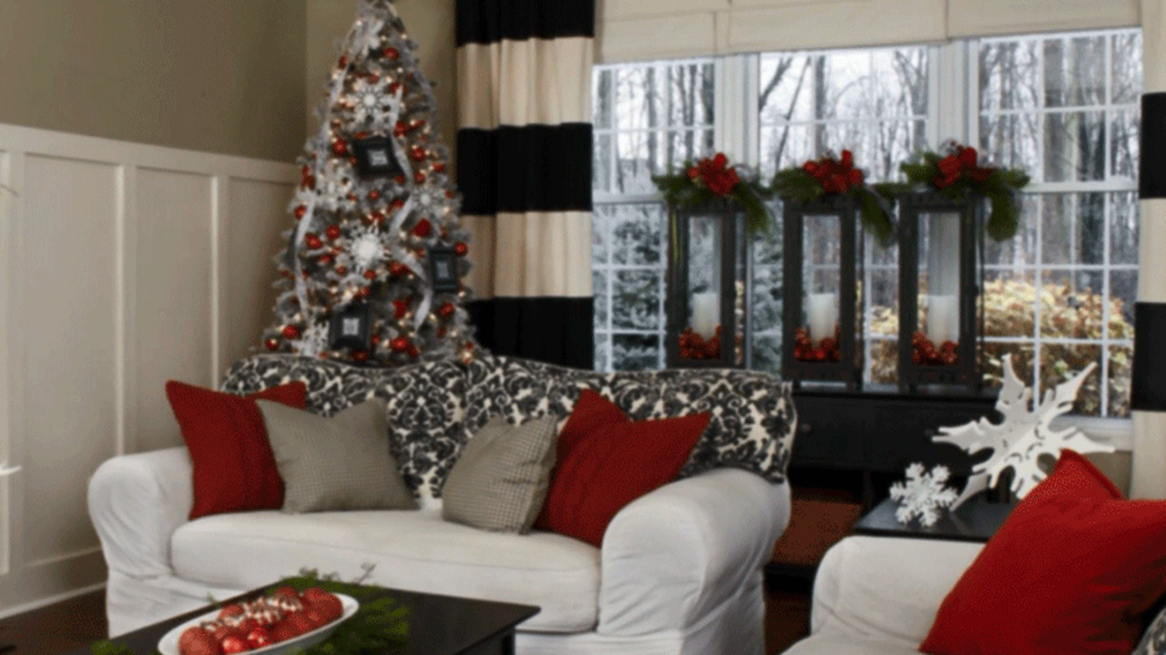 Pretty Christmas Living Rooms Better Homes Gardens