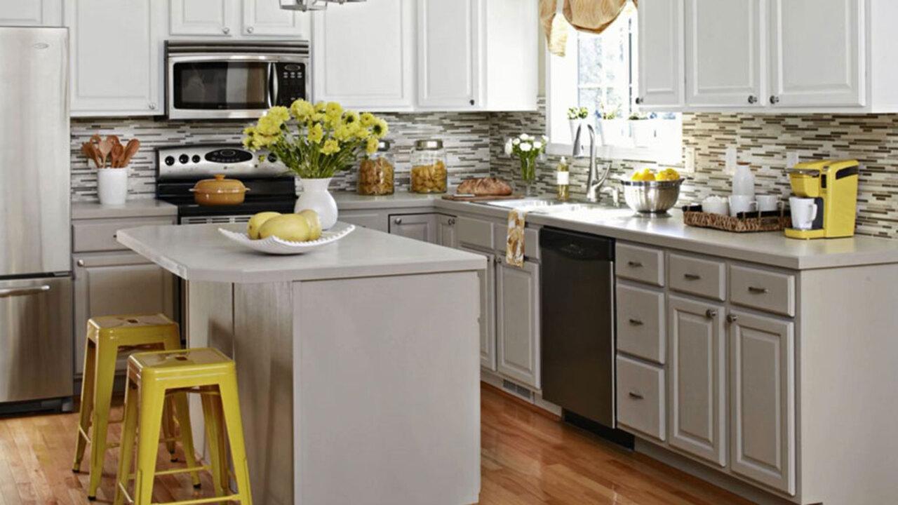 oak kitchen cabinet makeover  better homes  gardens