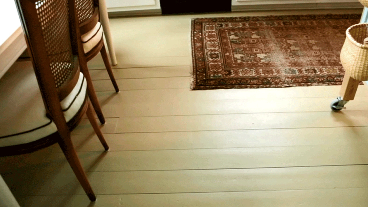 Get the Look: How to Paint a Wood Floor
