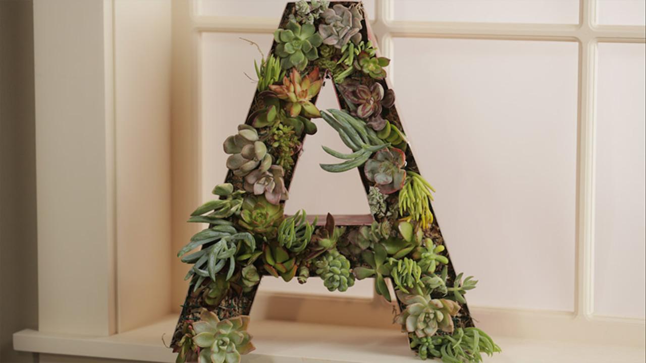 Succulent Monogram Wreath