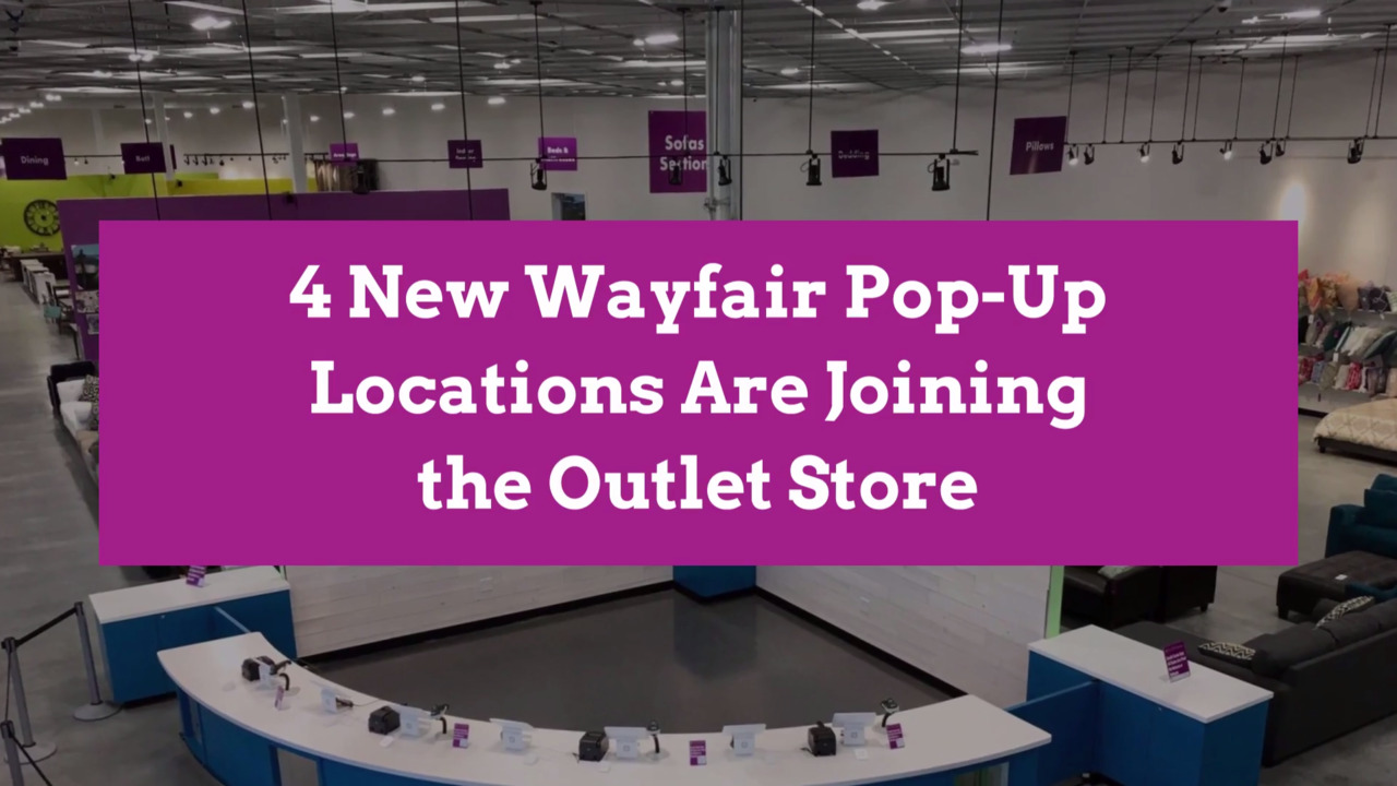 4 New Wayfair Pop-Up Locations Are Joining the Outlet Store