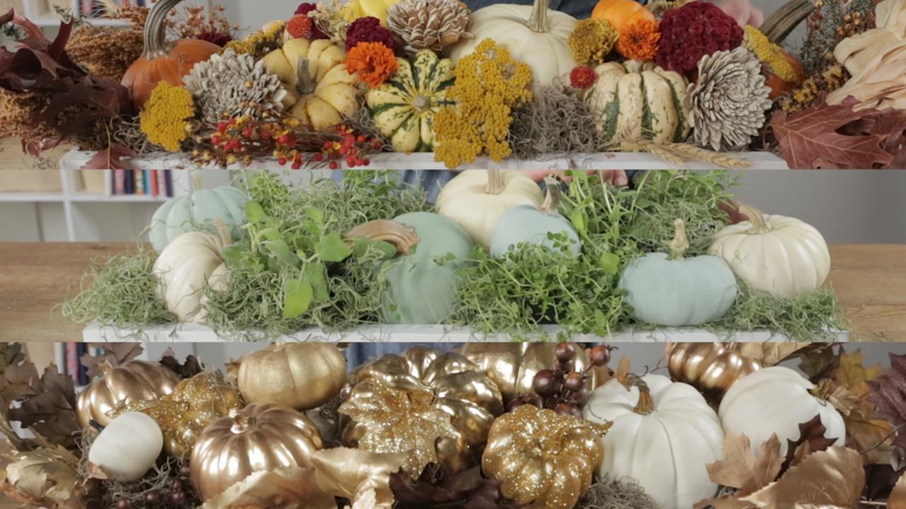 [Video] Easy Pumpkin Centerpiece Ideas in Minutes