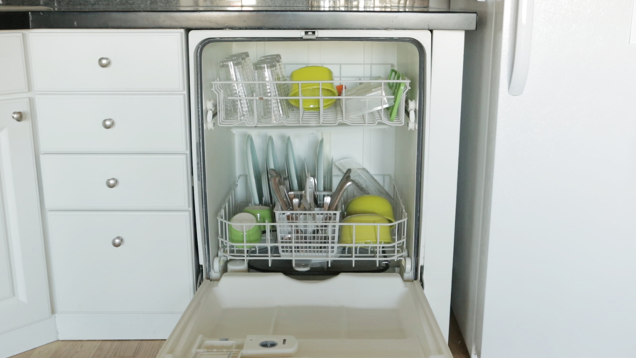 Dishwasher Rack Repair Paint Brush And Let Dry For Dishwasher Rack Damage//Chips