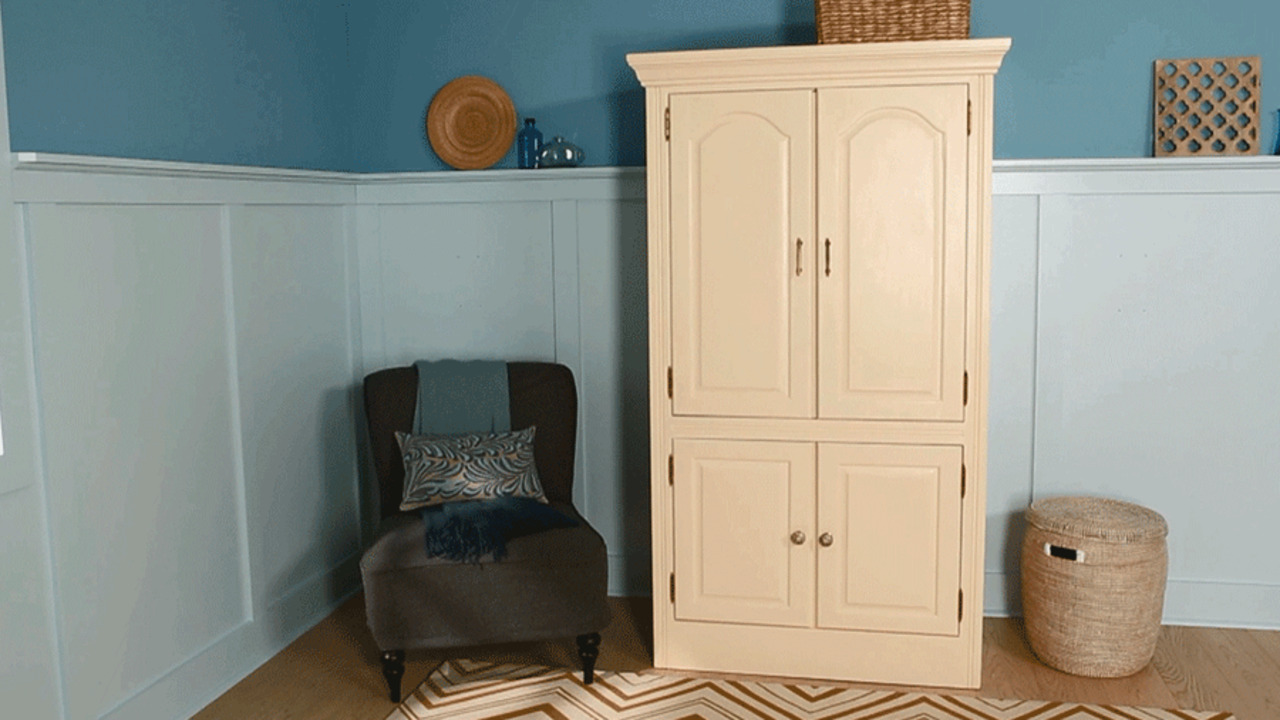 Fresh Style for an Old Armoire