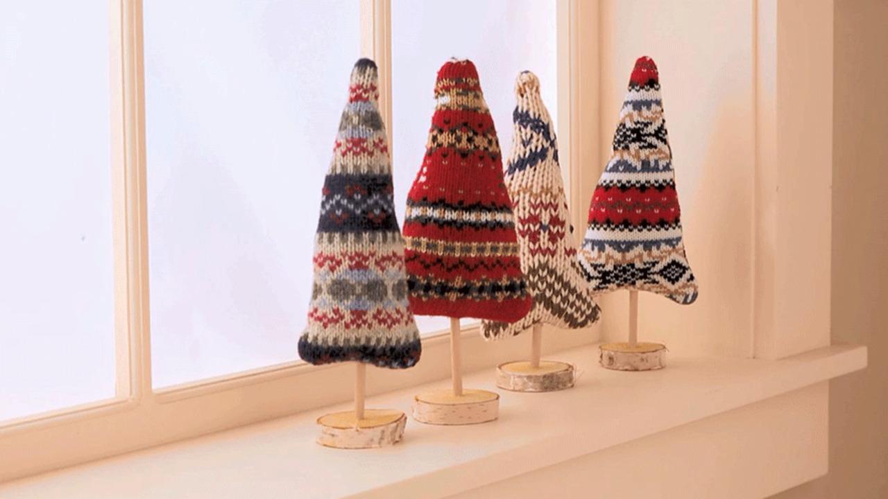 Easy, Cozy Sweater Trees