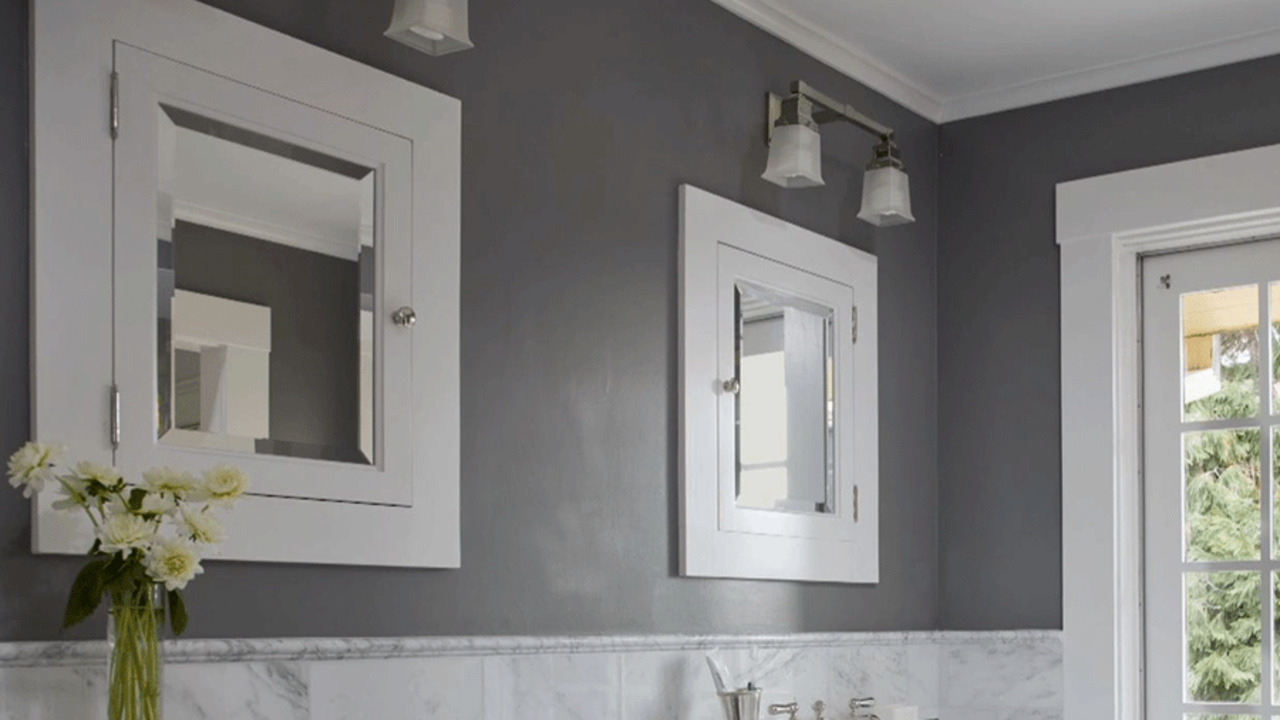 captivating what color paint grey tiles bathroom | Stylish Bathroom Color Schemes | Better Homes & Gardens