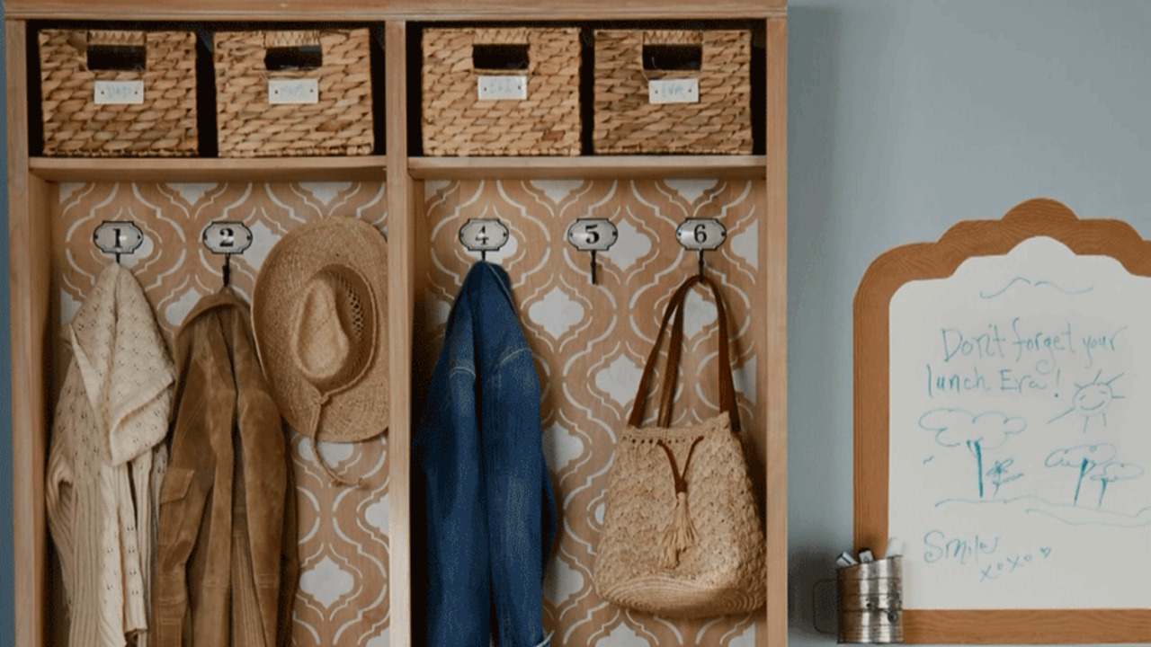 Turn a Bookcase into a Mudroom Organizer