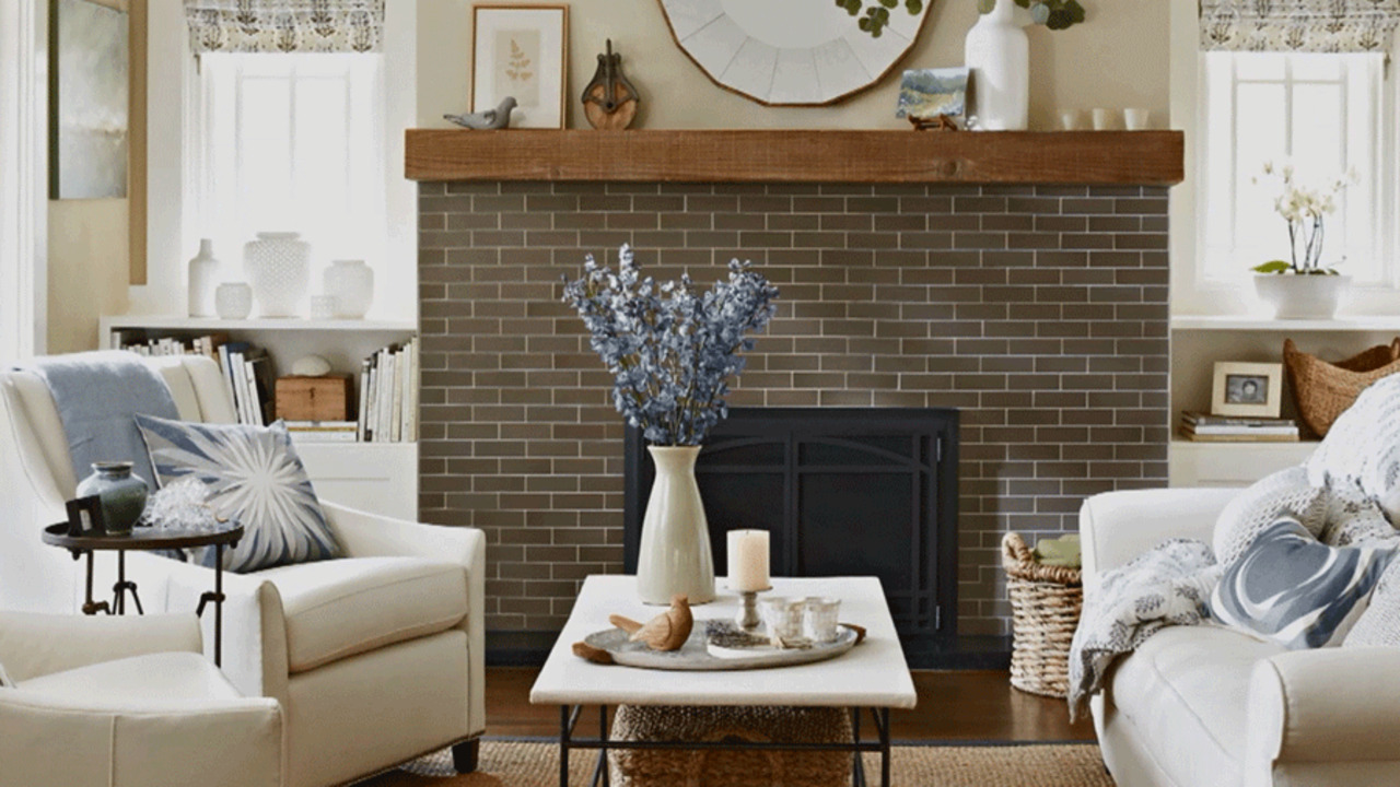 Watch A Rustic Redo For 1970s Fireplace