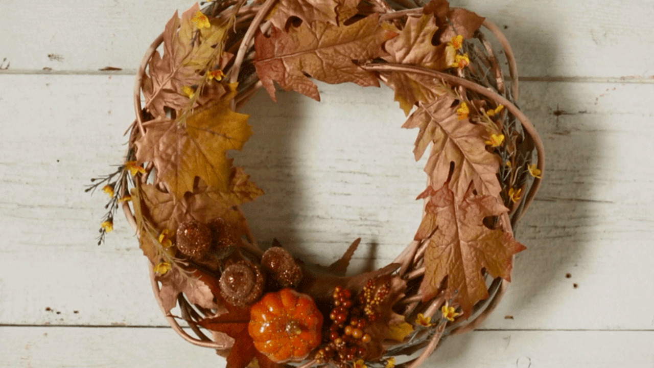 20-Minute Fall Wreath