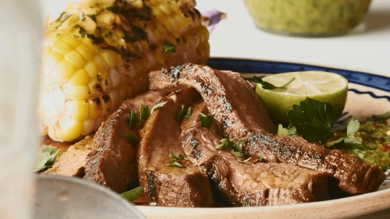 How to Make Grilled Steak with Chimichurri Sauce