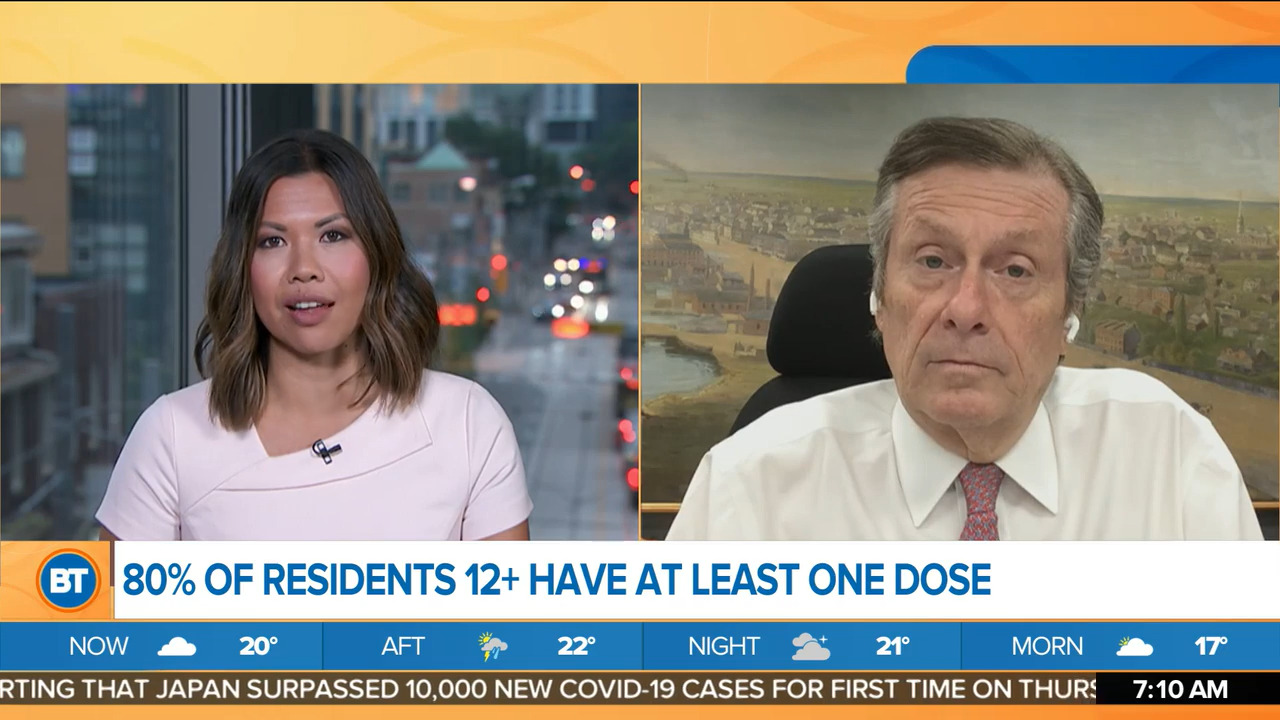 Mayor Tory discusses next stage of COVID-19 vaccine rollout in Toronto - CityNews Toronto