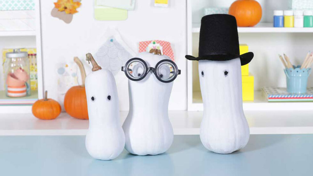 How to Make Ghostly Gourds